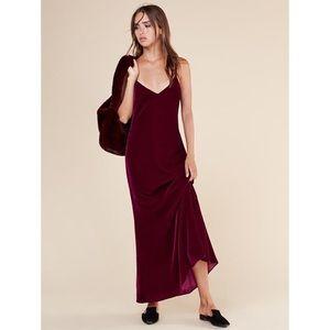 NWT Reformation Chemise Dress in Garnet, sz S